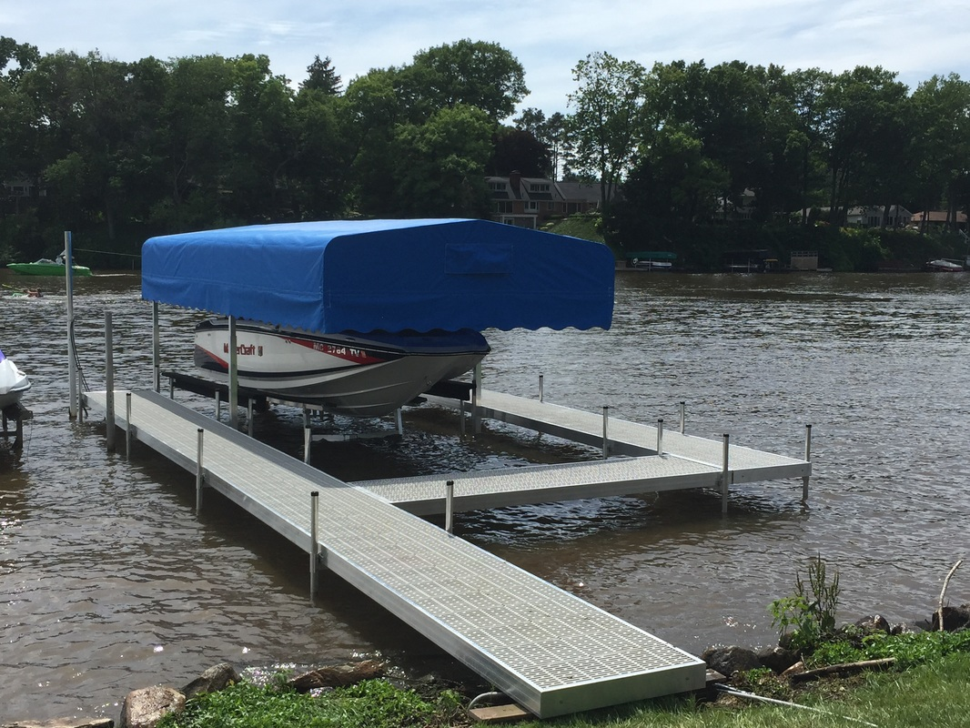 Canopy Color Options & Boat Pontoon and Tritoon Lift Canopies